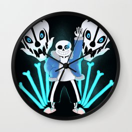 Sans the Skeleton Wall Clock
