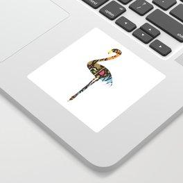 Fancy Flamingo Sticker