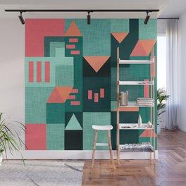 Teal Klee houses Wall Mural