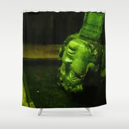 My head in thought. Shower Curtain