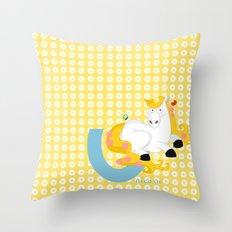 u for unicorn Throw Pillow