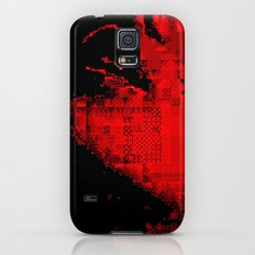 glitch kiss Galaxy S5 Slim Case