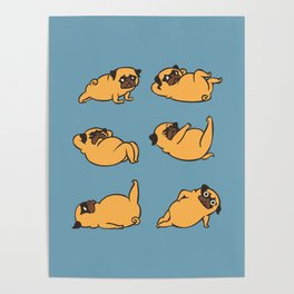 Total Pug Abs Workout Poster