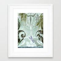tiffany Framed Art Prints featuring tiffany lake by Ariadne