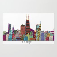 chicago Area & Throw Rugs featuring Chicago  by bri.buckley