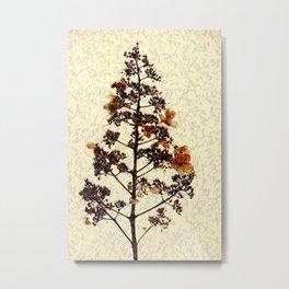 Flowery Stem Metal Print