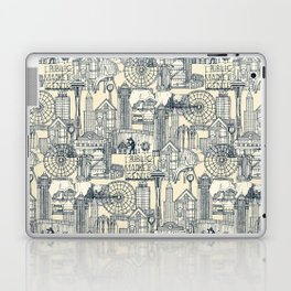 Seattle indigo cream Laptop & iPad Skin