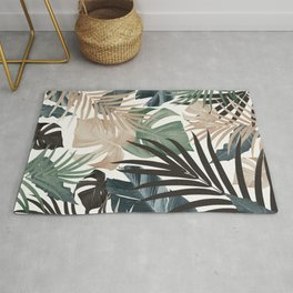 Tropical Jungle Leaves Pattern #13 (Fall Colors) #tropical #decor #art #society6 Rug