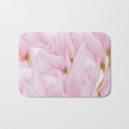 Pink petals on a light background - #Society6 #buyart Bath Mat
