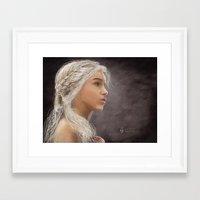 khaleesi Framed Art Prints featuring Khaleesi by iPaints