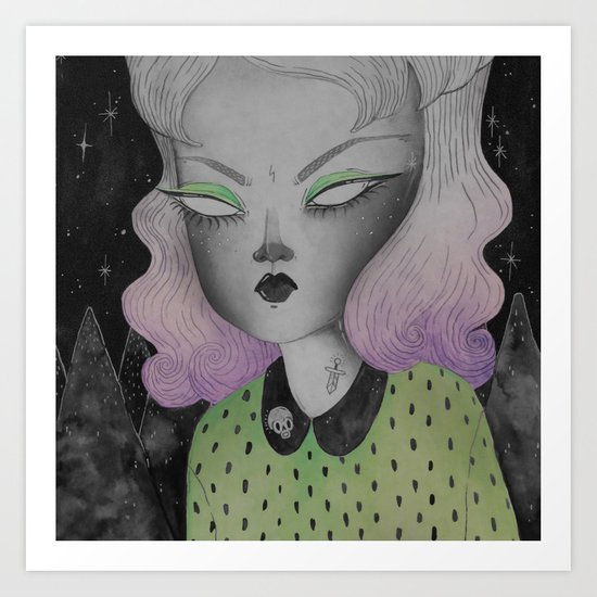 Ghoul from Outer Space Art Print