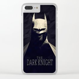 The Bat Knight Poly Art Clear iPhone Case
