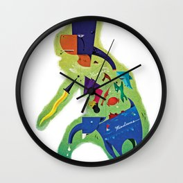 The Philippines as a Menagerie Wall Clock