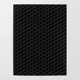 Black Cubes Poster