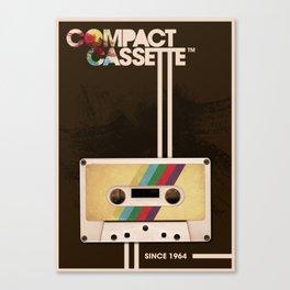 Compact Cassette Canvas Print