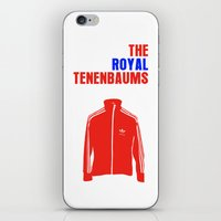 royal tenenbaums iPhone & iPod Skins featuring The Royal Tenenbaums Movie Poster by FunnyFaceArt