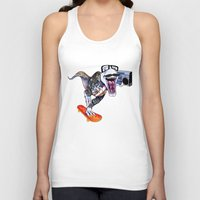 trex Tank Tops featuring TRex Hipster Dufus by Designer R.M.D