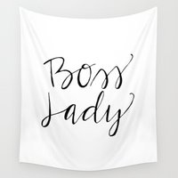 boss Wall Tapestries featuring Boss Lady by Thicket and Thatch