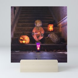 Halloween Rules Enforcer Mini Art Print