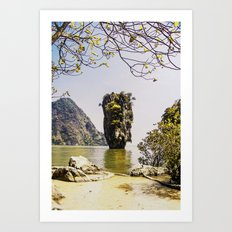 James Bond Island (vintage) Art Print