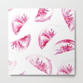 Pink Citrus Metal Print