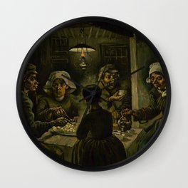 Vincent van Gogh - The potato eaters Wall Clock