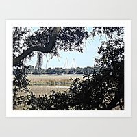 View From Charlestowne Landing Art Print