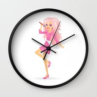 jem Wall Clocks featuring Jem by Sara Showalter