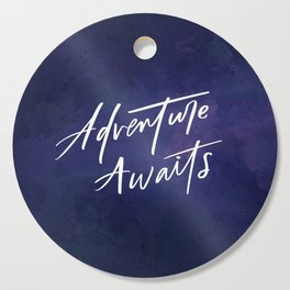 Adventure Awaits // Watercolour Background Cutting Board