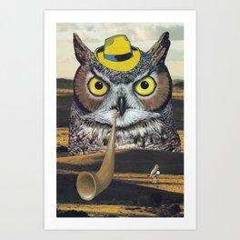 Owls Love Mysteries Art Print