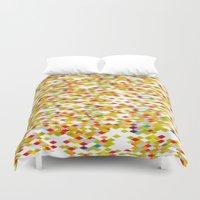 confetti Duvet Covers featuring Confetti by Simi Design