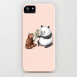 Panda Friends iPhone Case