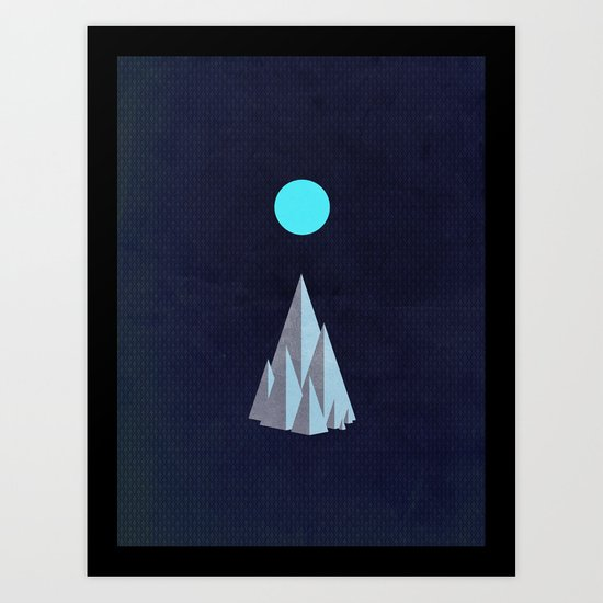 Minimal Mountains Art Print