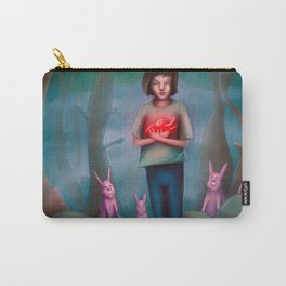 Boy Holding his Big Heart Carry-All Pouch