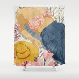 Beach Vacay #society6 #travel #illustration Shower Curtain