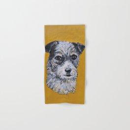 Terrier Mix Dog Portrait Hand & Bath Towel