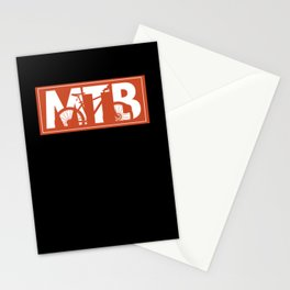Mountain Bike MTB Mountain Biking Bike Stationery Cards