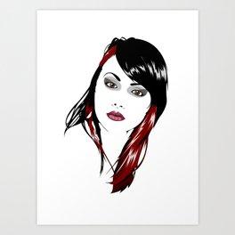 minimal girl 3 Art Print