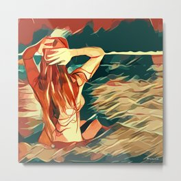 Sea Siren 1 Metal Print