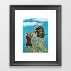 Le fil rouge Framed Art Print