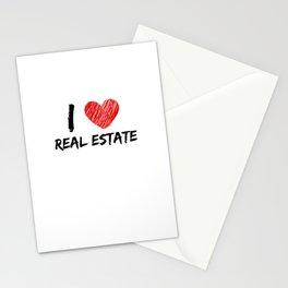 I Love Real Estate Stationery Cards