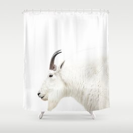 NORDIC MOUNTAIN GOAT Shower Curtain