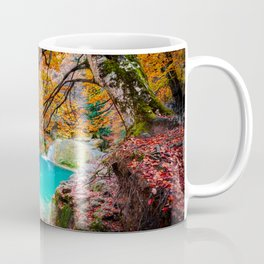 urederra river lake, lago rio urederra en navarra, en el norte de España Coffee Mug