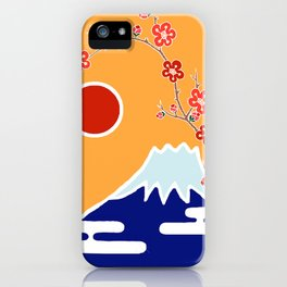 Mount Fuji and Sun Rise iPhone Case