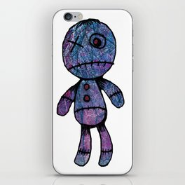Little guy, colors, blue, red, pink iPhone Skin