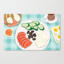 Fresh Home-cooked Turkish Breakfast Canvas Print