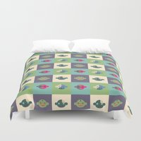 zombies Duvet Covers featuring Candy Zombies by Zeus Wares