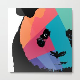 Panda in Colors  Metal Print