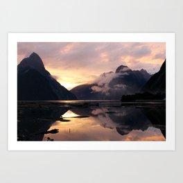 Milford Sound Sunset Art Print