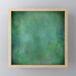 Looking into the depths of green Framed Mini Art Print